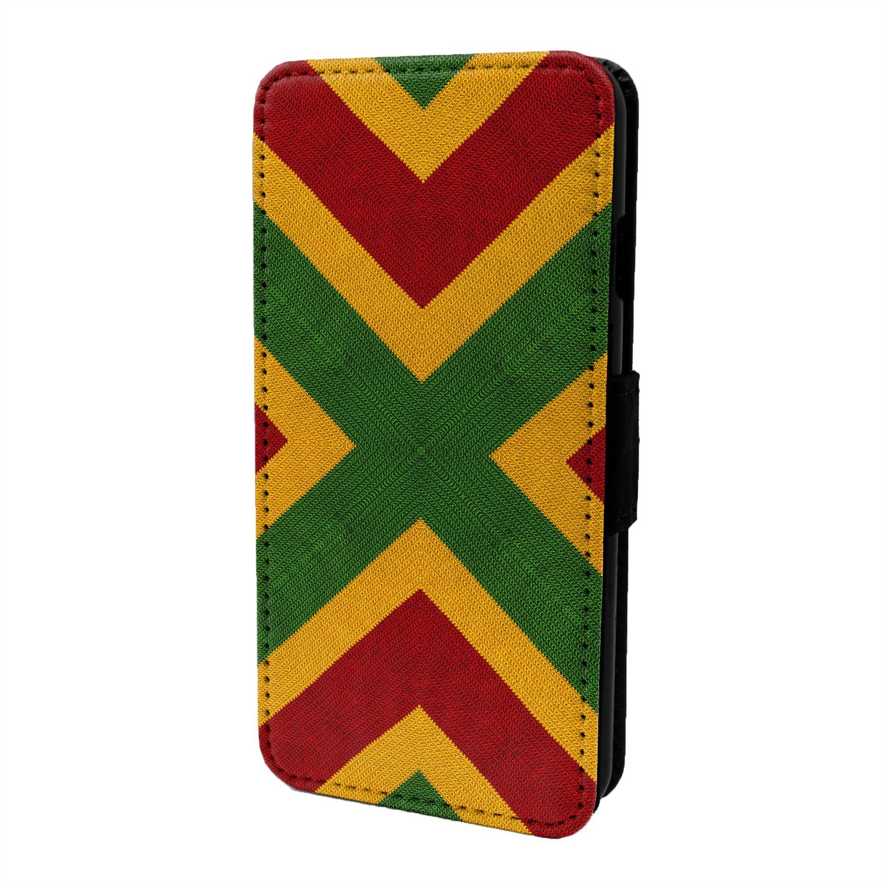 Rastafari-Estampado-Funda-Libro-para-Telefono-Movil-S7058