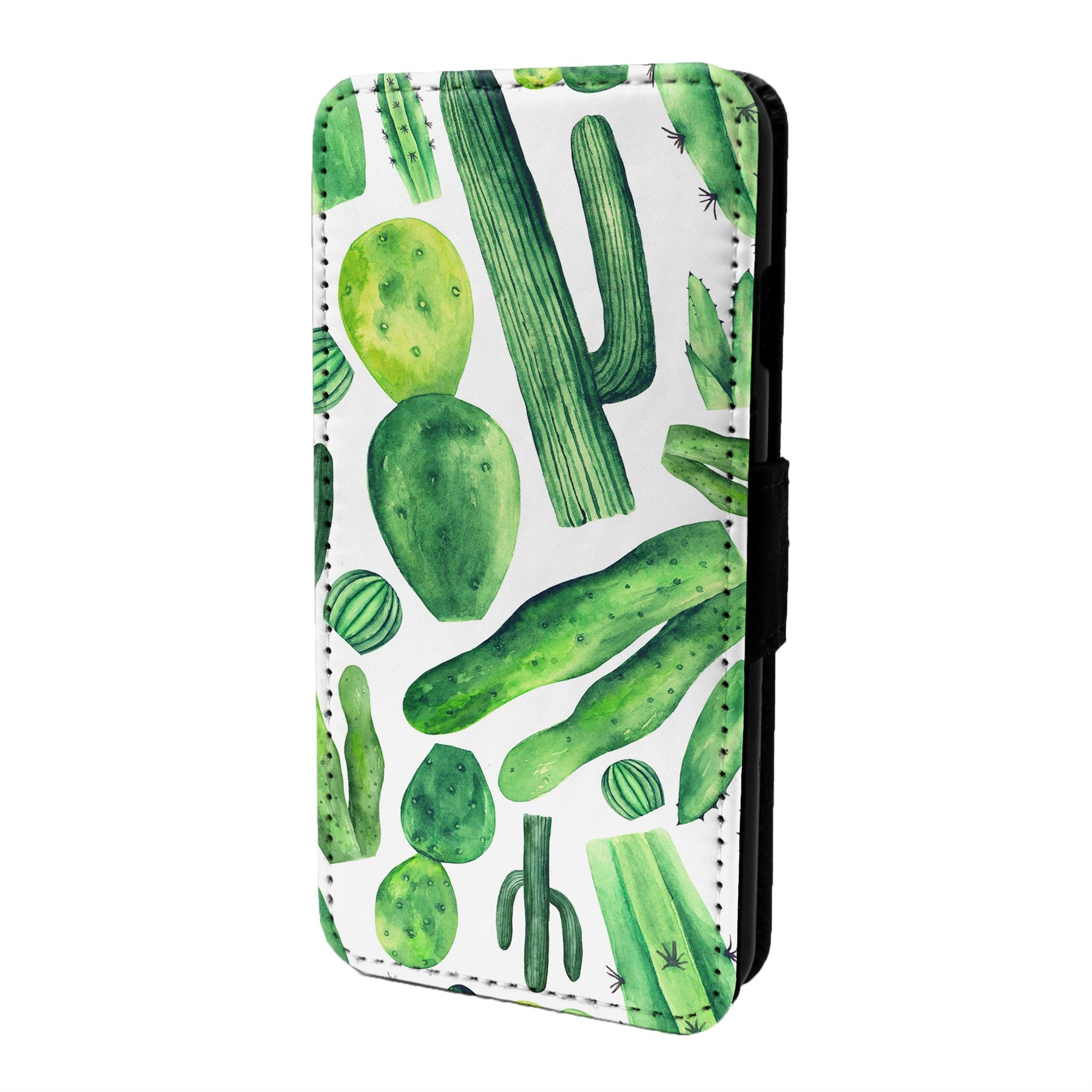 Cactus-Motif-Etui-Rabattable-pour-Telephone-Portable-S6622
