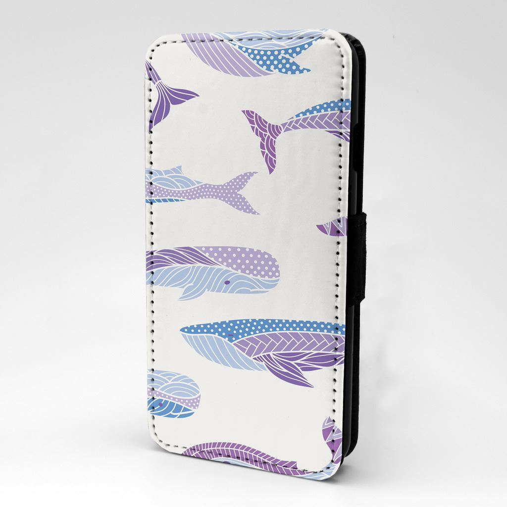 Funda-Flip-vida-marina-ballena-azul-purpura-Protectora-Para-Apple-Ipod-S878