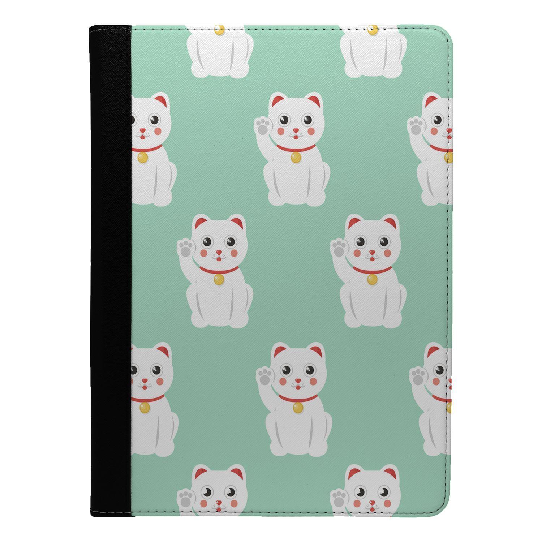 Maneki-neko-Cat-Pattern-Flip-Case-Cover-For-Apple-iPad-S8432