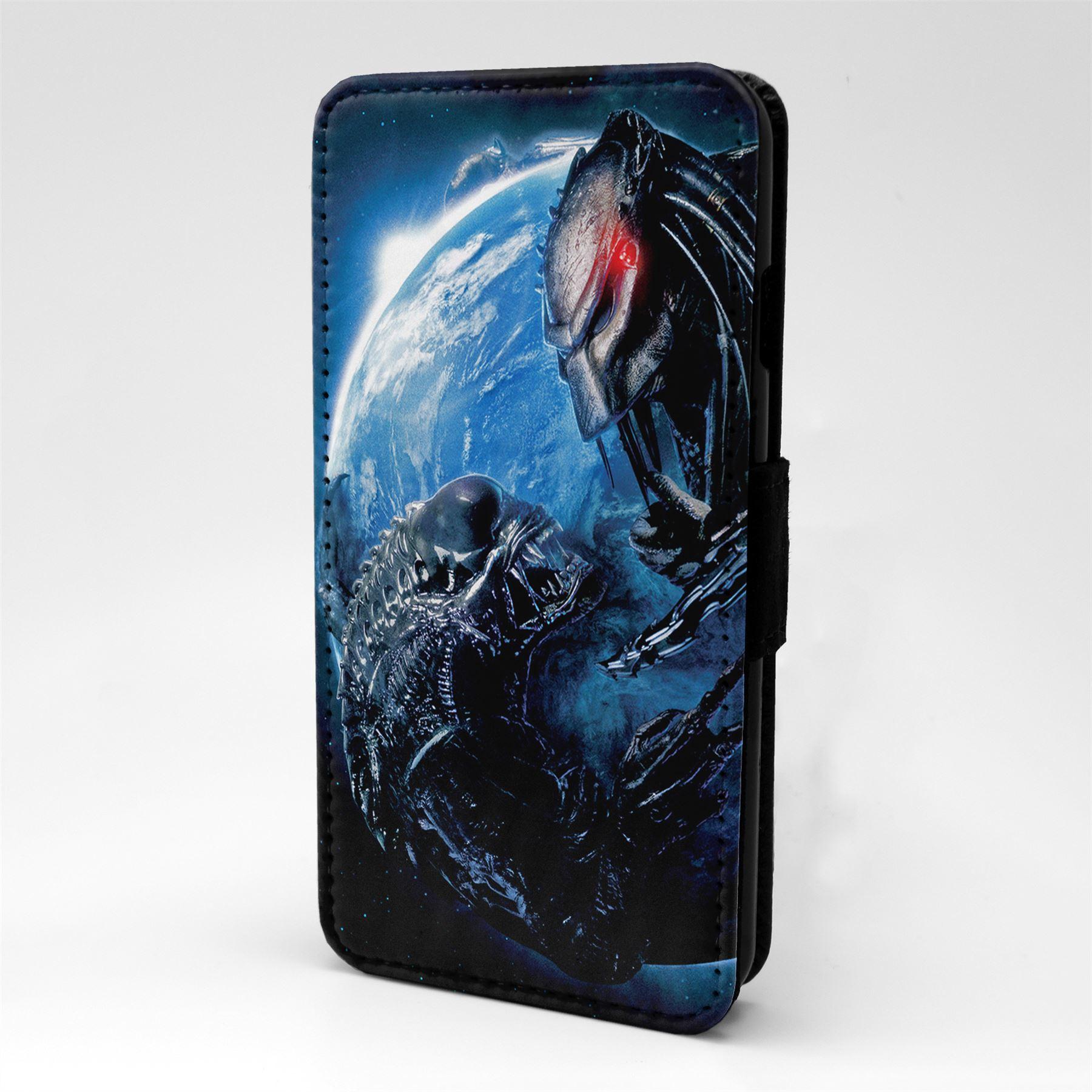 Alien-Vs-Predator-Flip-Case-Cover-For-Mobile-Phone-T1644
