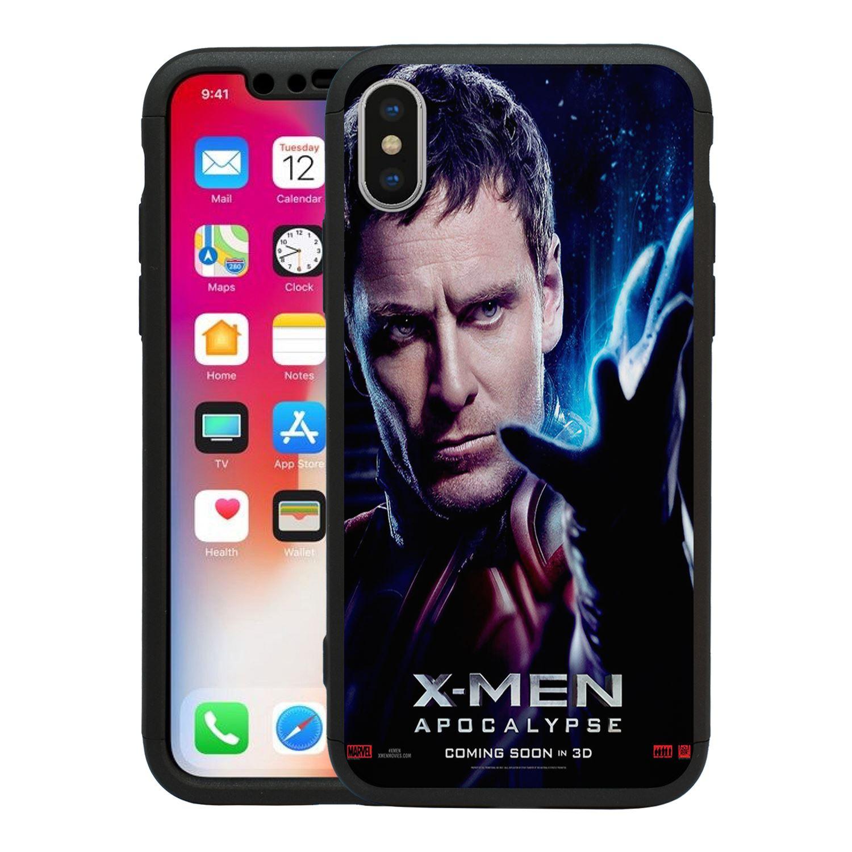 Maravilla-X-Men-Apocalypse-360-Funda-amp-Vidrio-Templado-para-Iphone-T2610