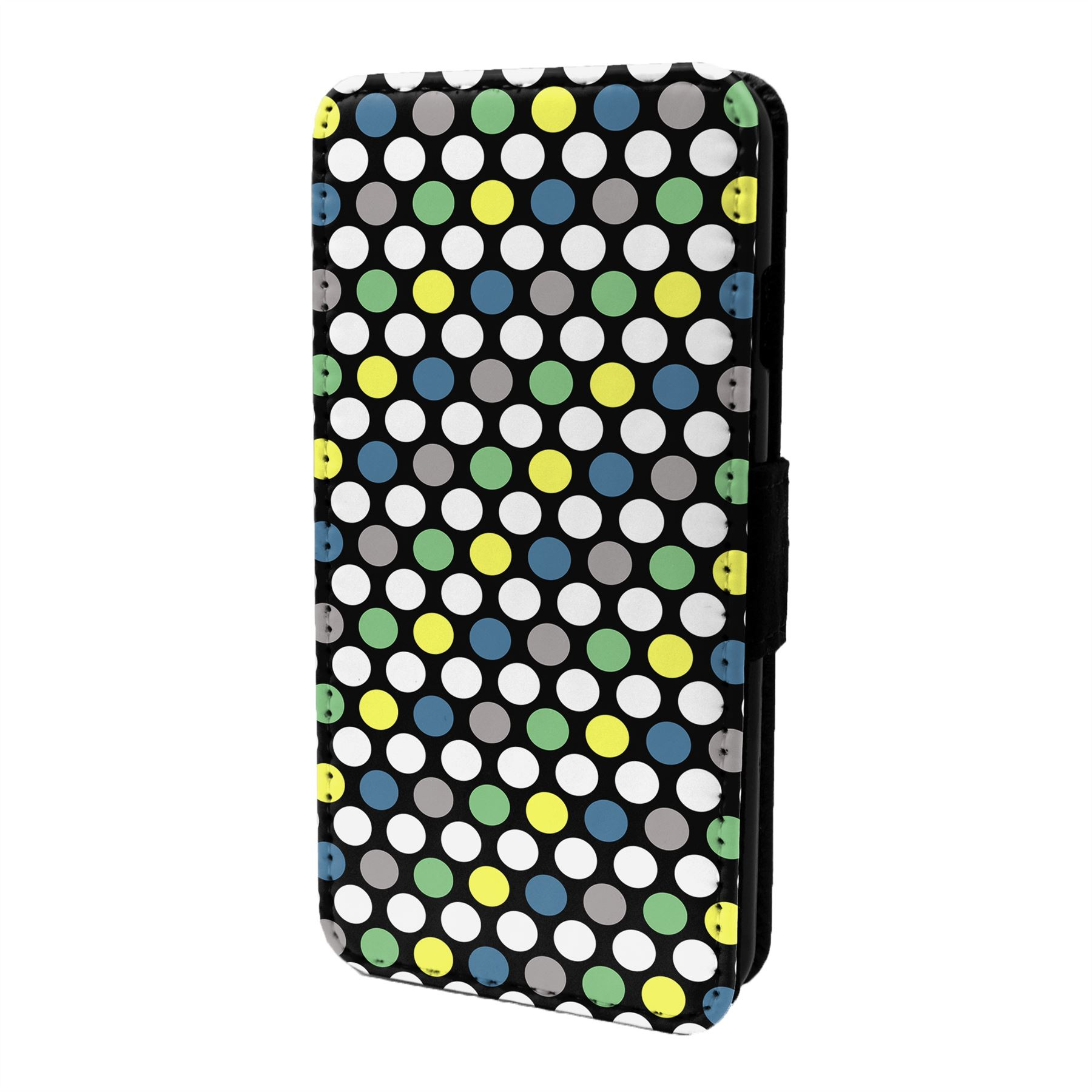 Polka-Dots-Estampado-Funda-Libro-para-Telefono-Movil-S7048