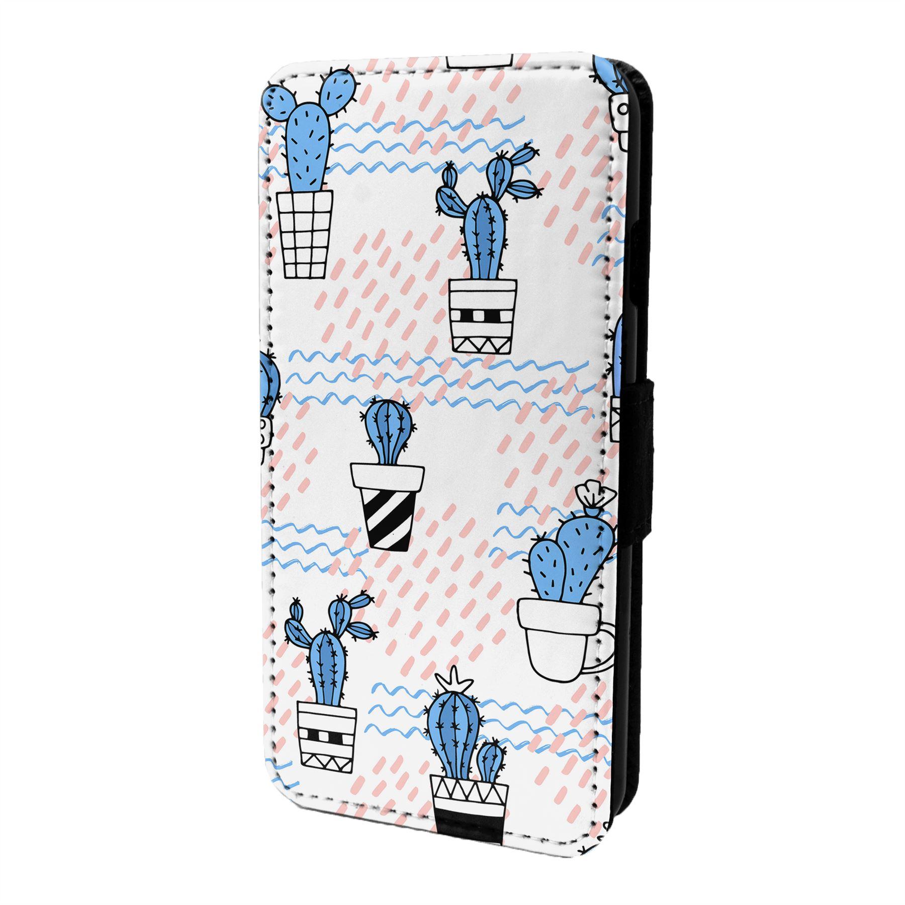 Cactus-Motif-Etui-Rabattable-pour-Telephone-Portable-S6626