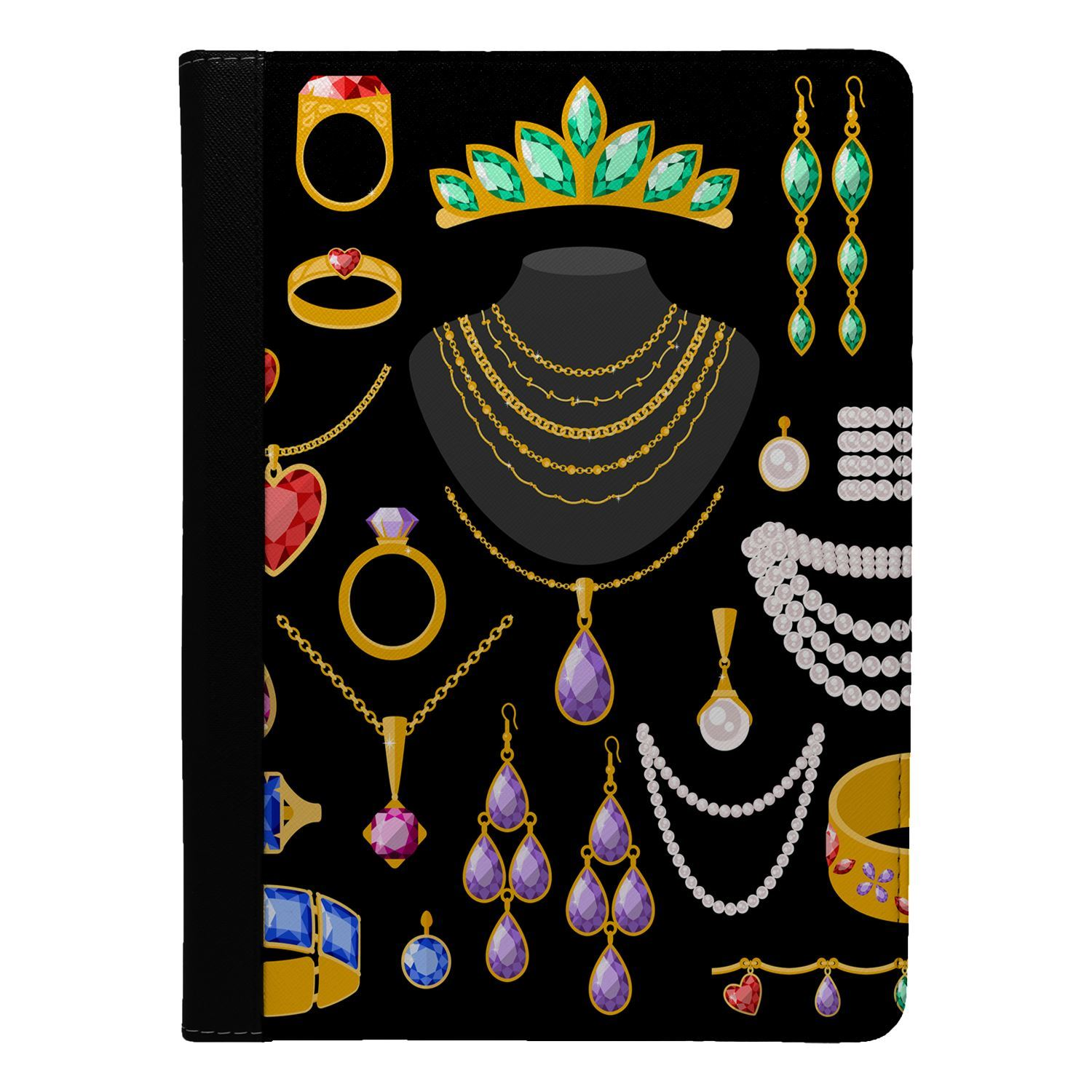 Girls-Jewels-Flip-Case-Cover-For-Apple-iPad-S4598