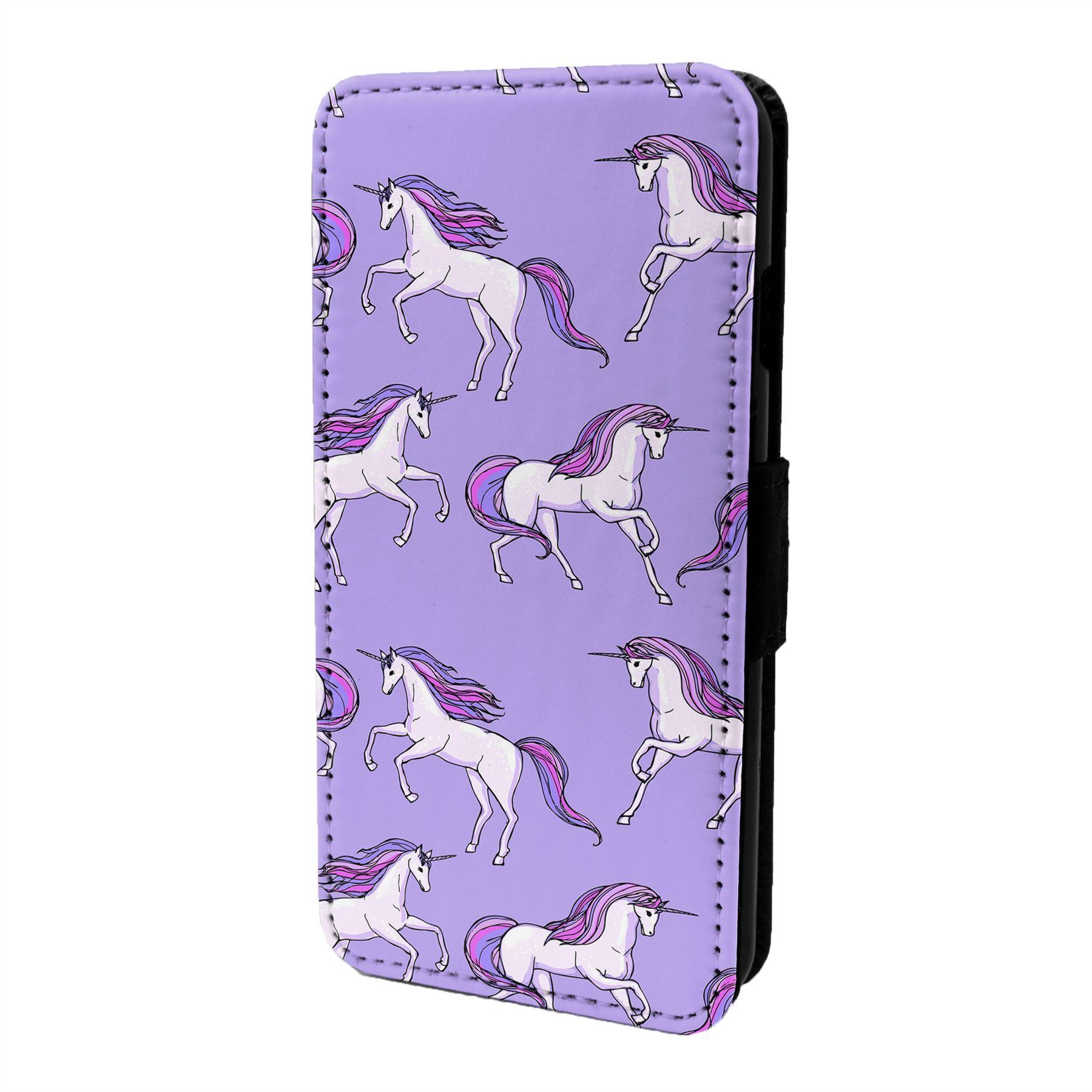 Fantasia-Unicornio-Estampado-Funda-Libro-para-Telefono-Movil-S6658