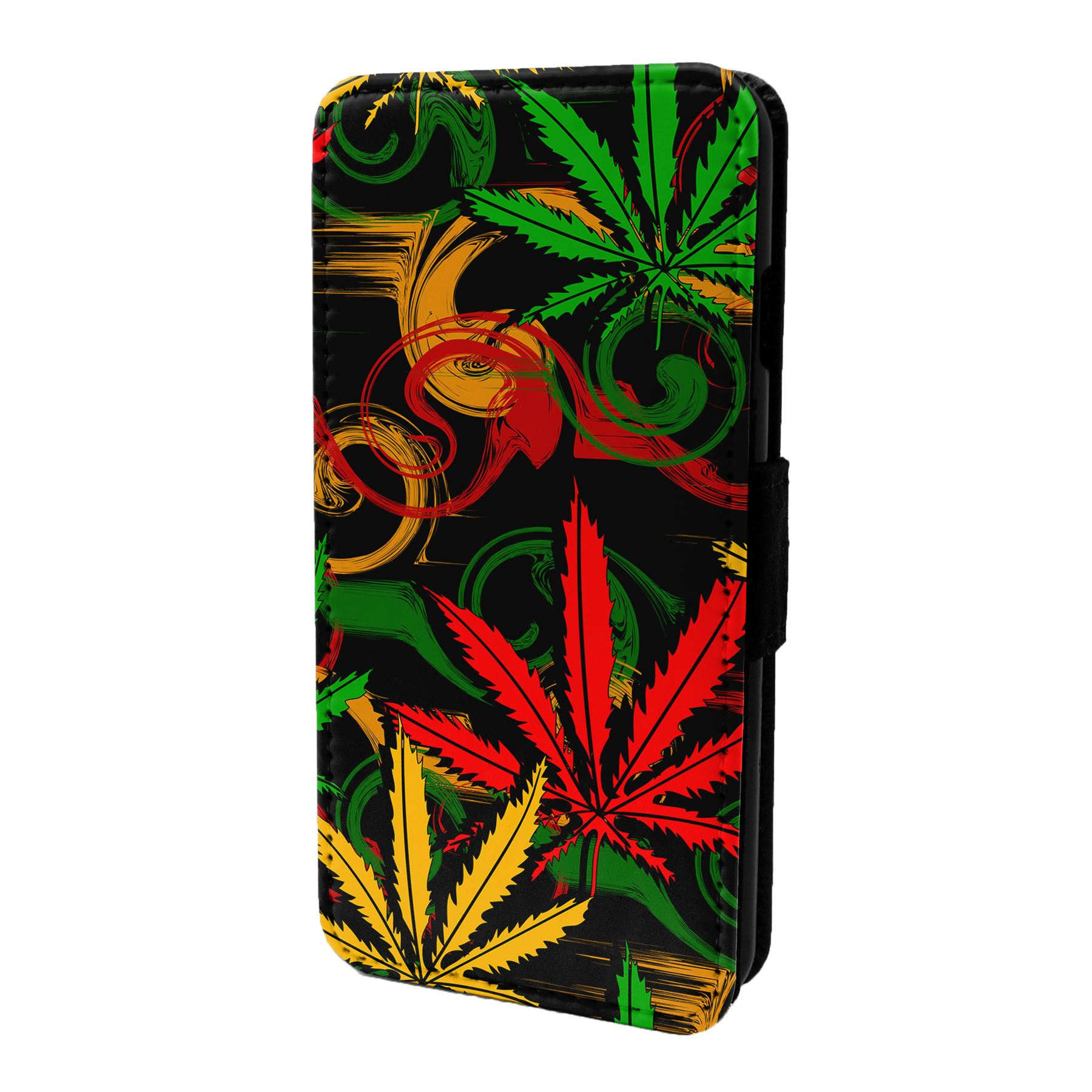 Hoja-Rastafari-Funda-Libro-para-Telefono-Movil-S6827