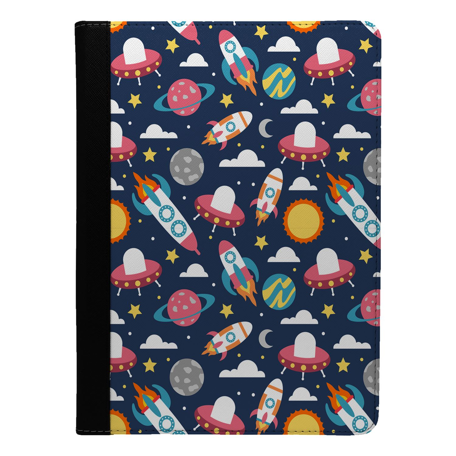 Rocket-Ship-Space-Pattern-Flip-Case-Cover-For-Apple-iPad-S8546