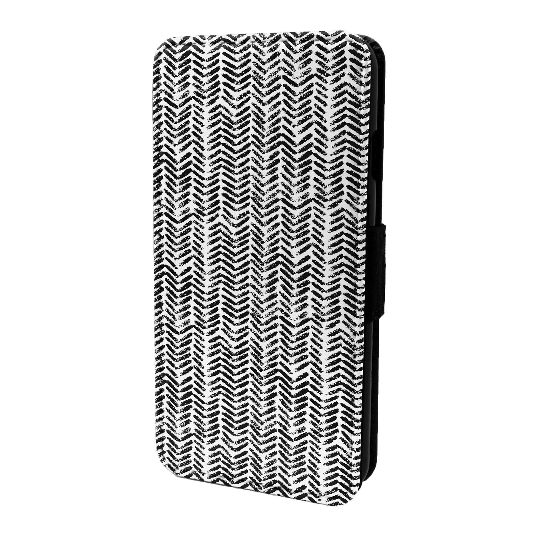 Espiguilla-Chevron-Estampado-Funda-Libro-para-Telefono-Movil-S6790