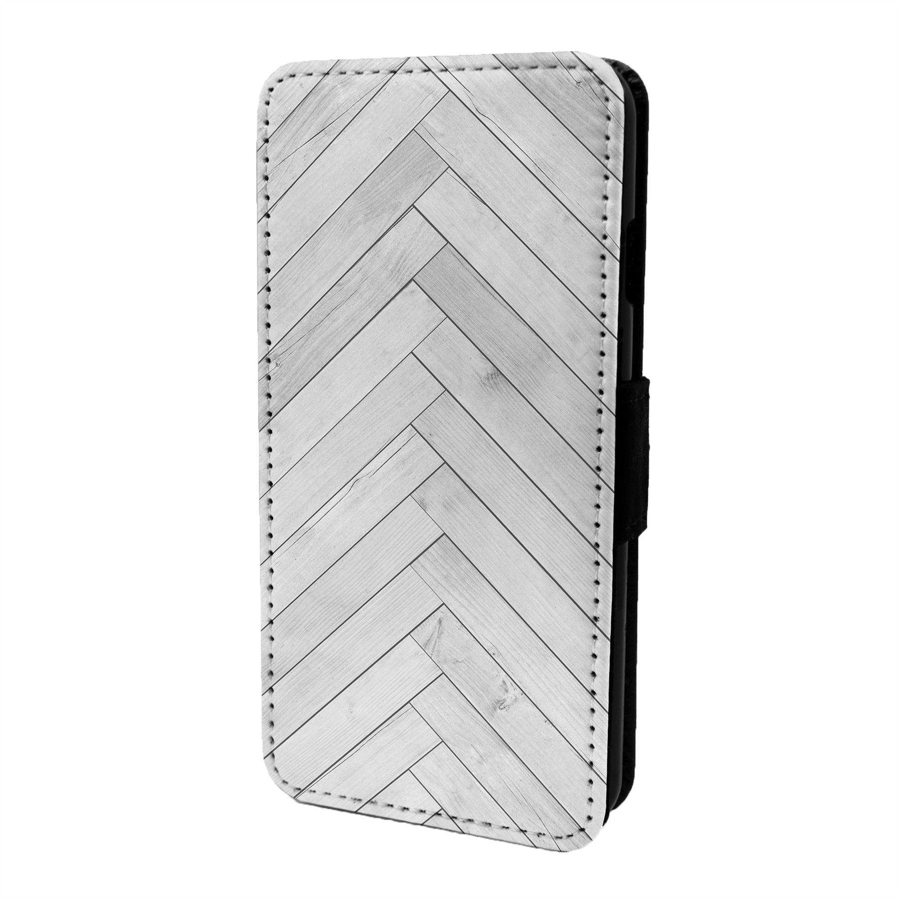 Espiguilla-Chevron-Estampado-Funda-Libro-para-Telefono-Movil-S6806