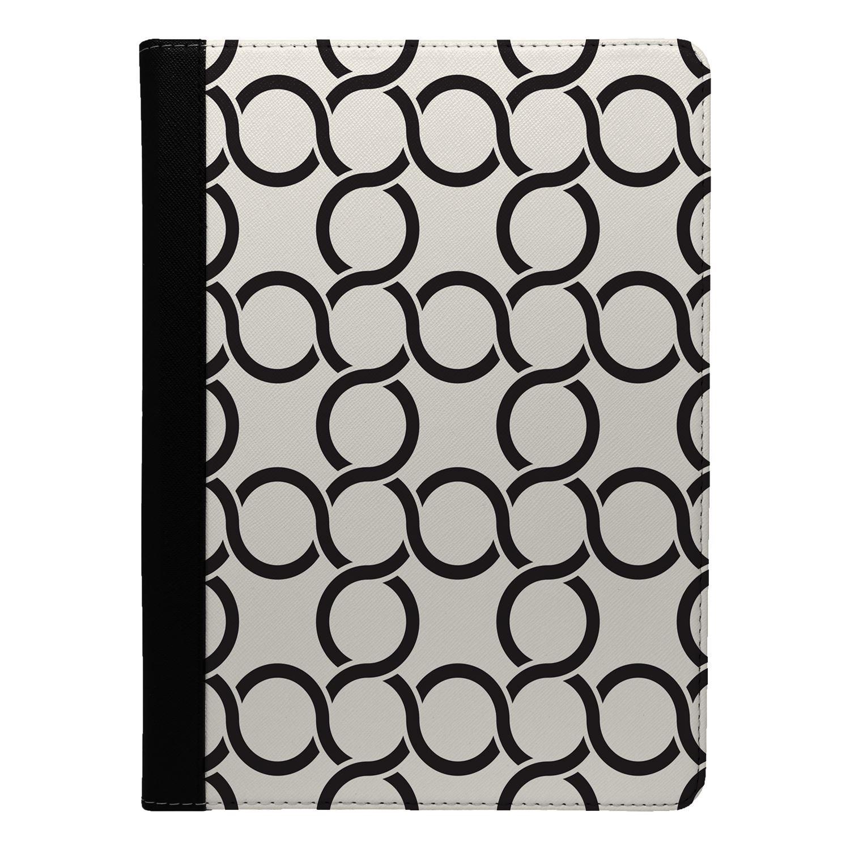 Retro-Motif-Geometrique-Rabattable-Etui-COQUE-pour-Apple-Ipad-S9152