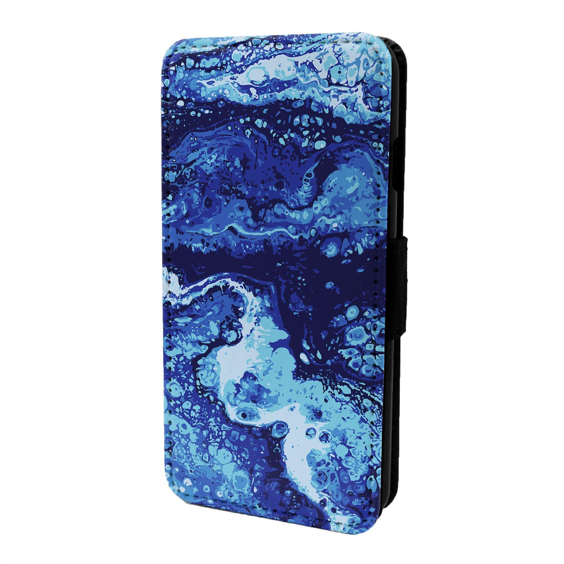 Marmol-Piedra-Estampado-Funda-Libro-para-Telefono-Movil-S6957