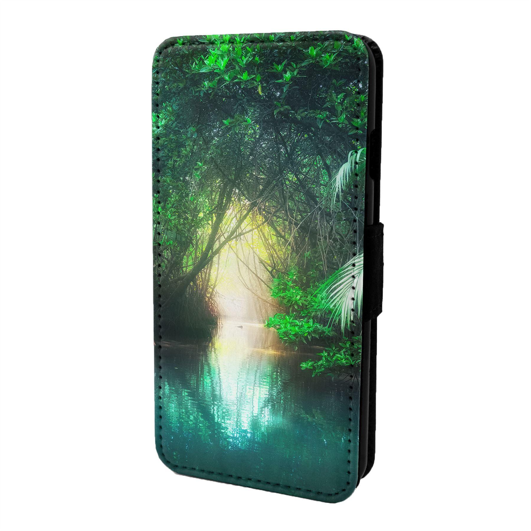 Magique-Paysage-Imprime-Etui-Rabattable-pour-Telephone-Portable-S6880