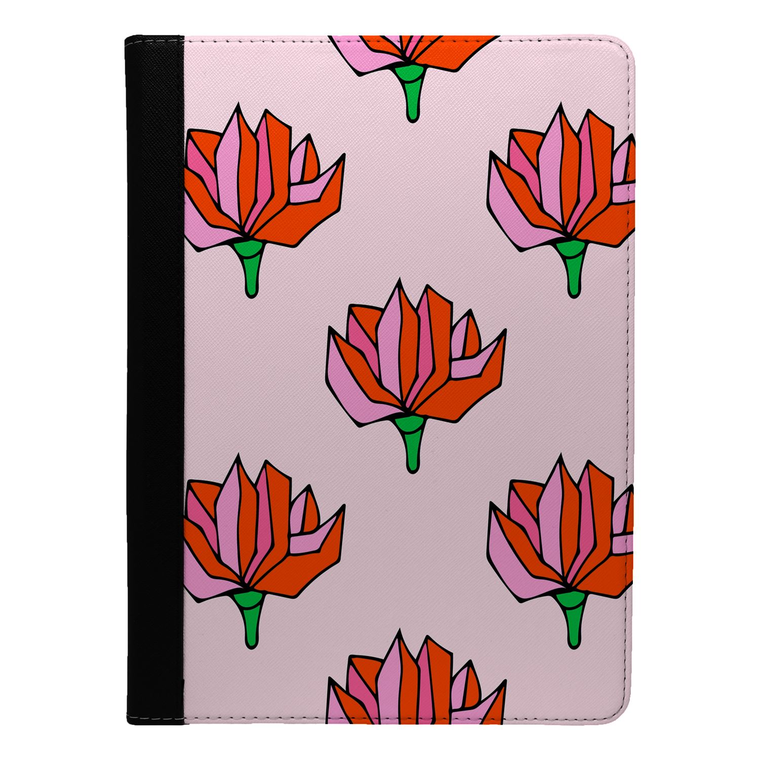 Flowers-Floral-Print-Flip-Case-Cover-For-Apple-iPad-S8983