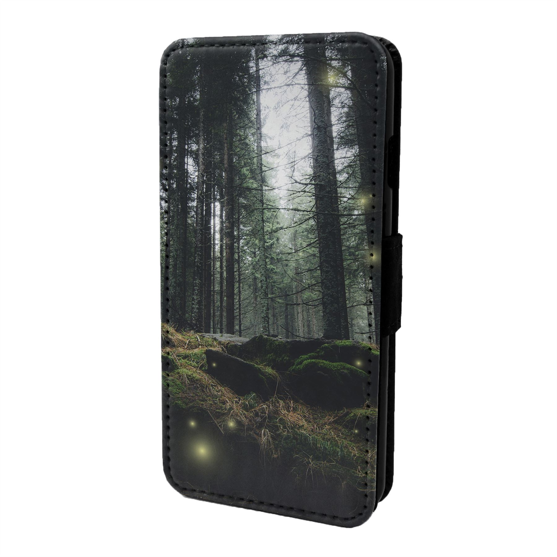 Magique-Paysage-Imprime-Etui-Rabattable-pour-Telephone-Portable-S6875