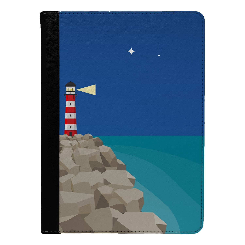 Lighthouse-Sea-Print-Flip-Case-Cover-For-Apple-iPad-S9323