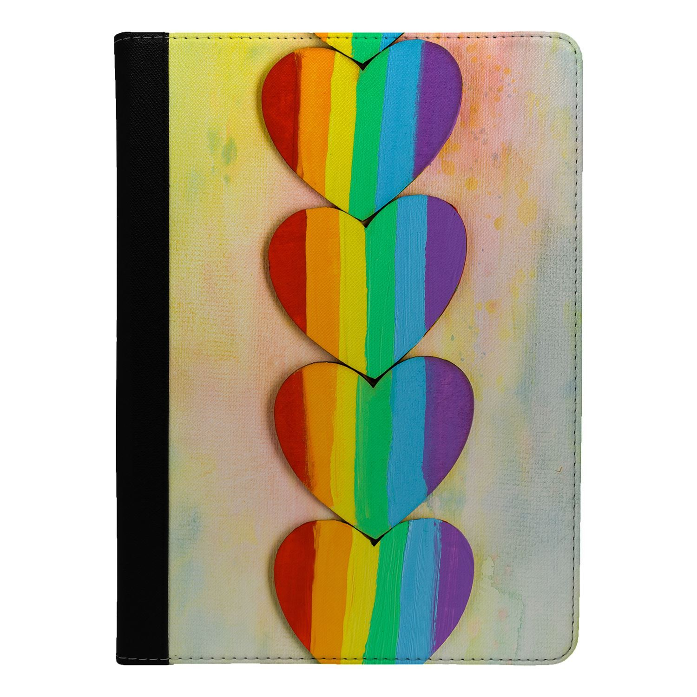 LGBT-Rainbow-Hearts-Flip-Case-Cover-For-Apple-iPad-S851