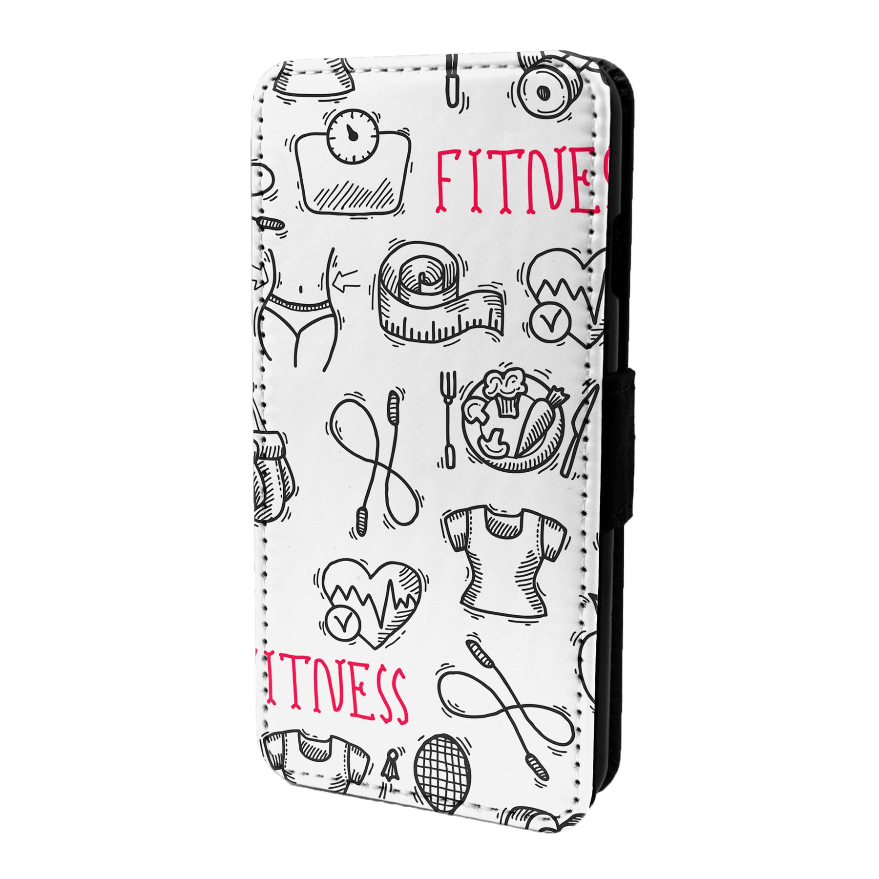 Fitness-Gym-Motif-Etui-Rabattable-pour-Telephone-Portable-S6687