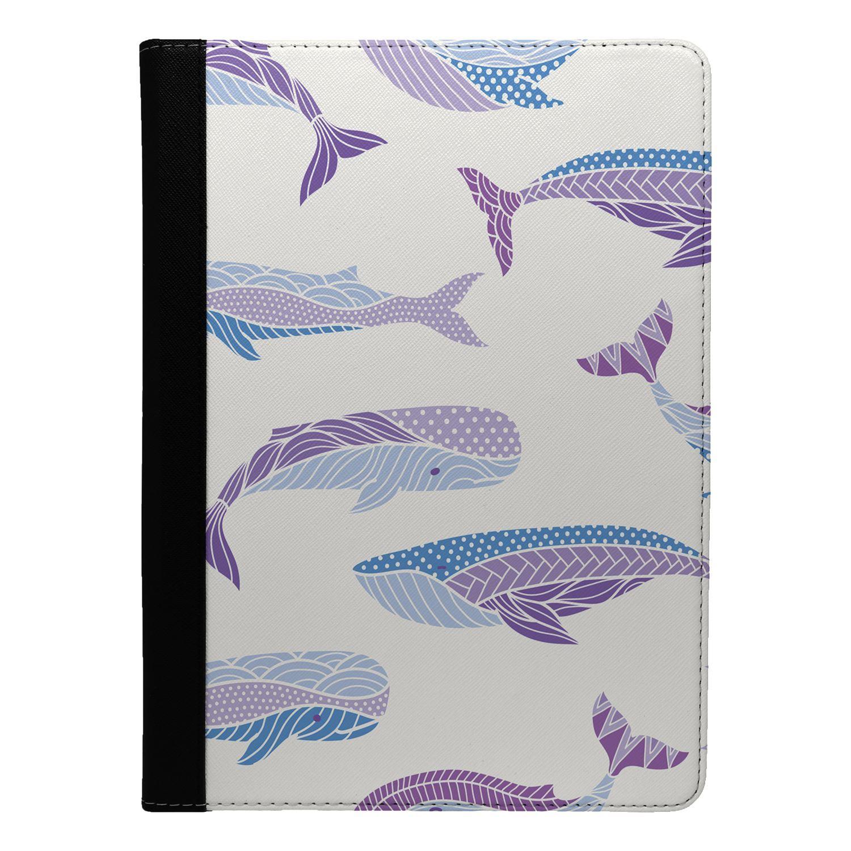 Marine-Life-Purple-Blue-Whale-Flip-Case-Cover-For-Apple-iPad-S878