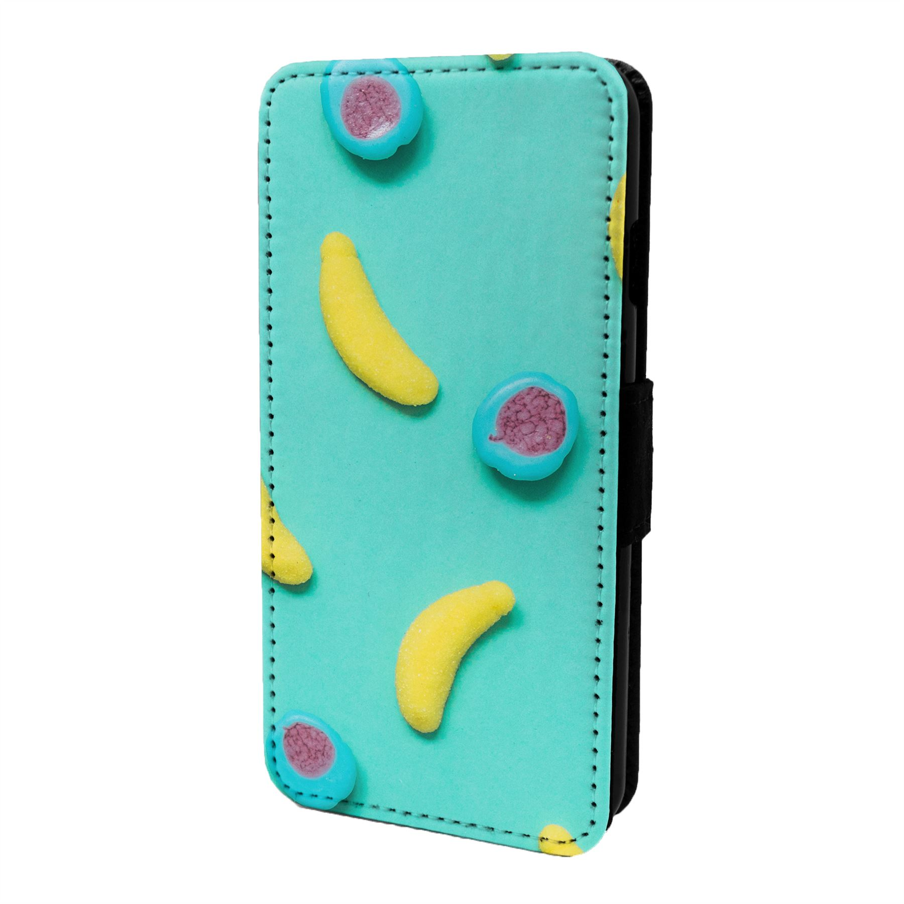 Banana-Pastel-Funda-Libro-para-Telefono-Movil-S6591