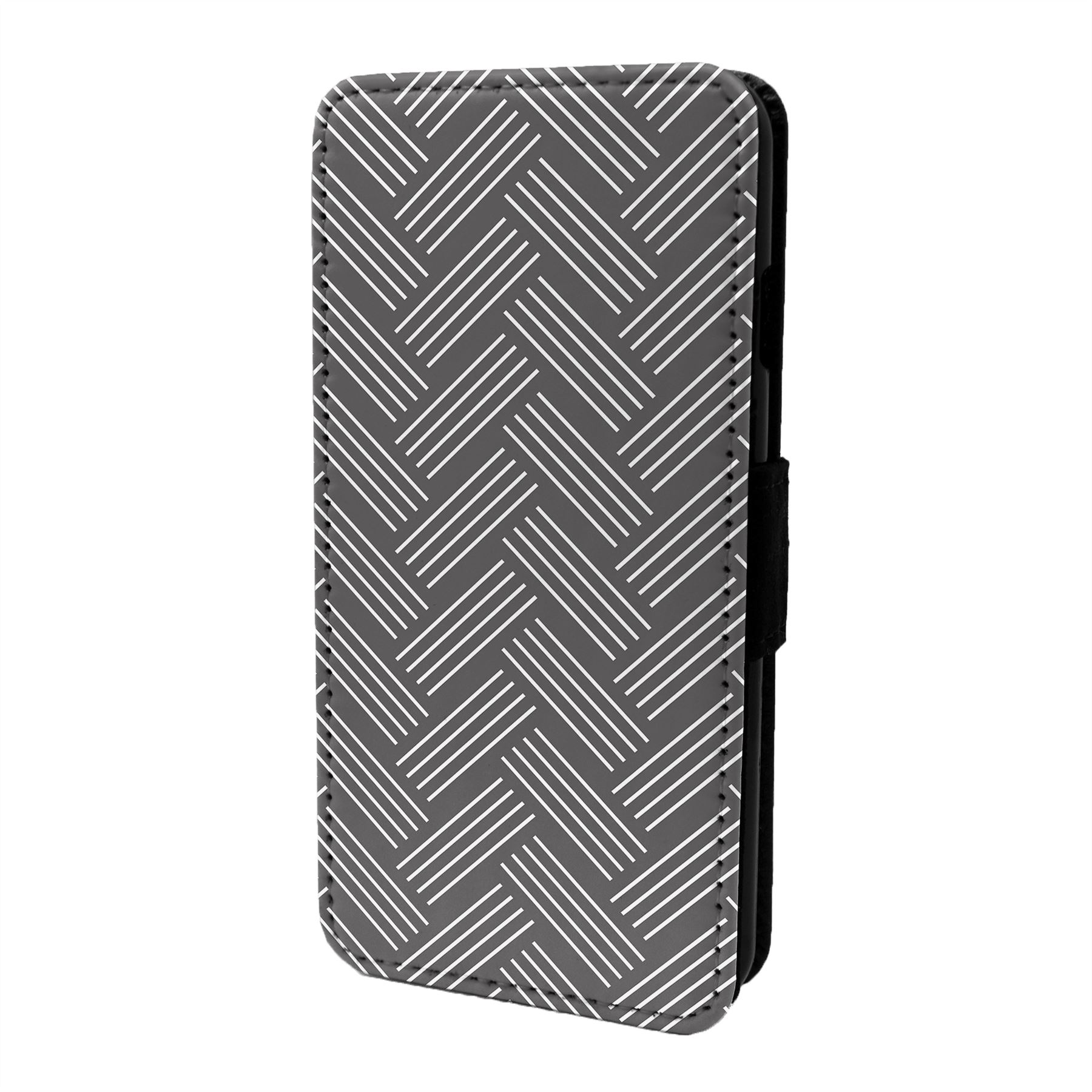 Espiguilla-Chevron-Estampado-Funda-Libro-para-Telefono-Movil-S6794