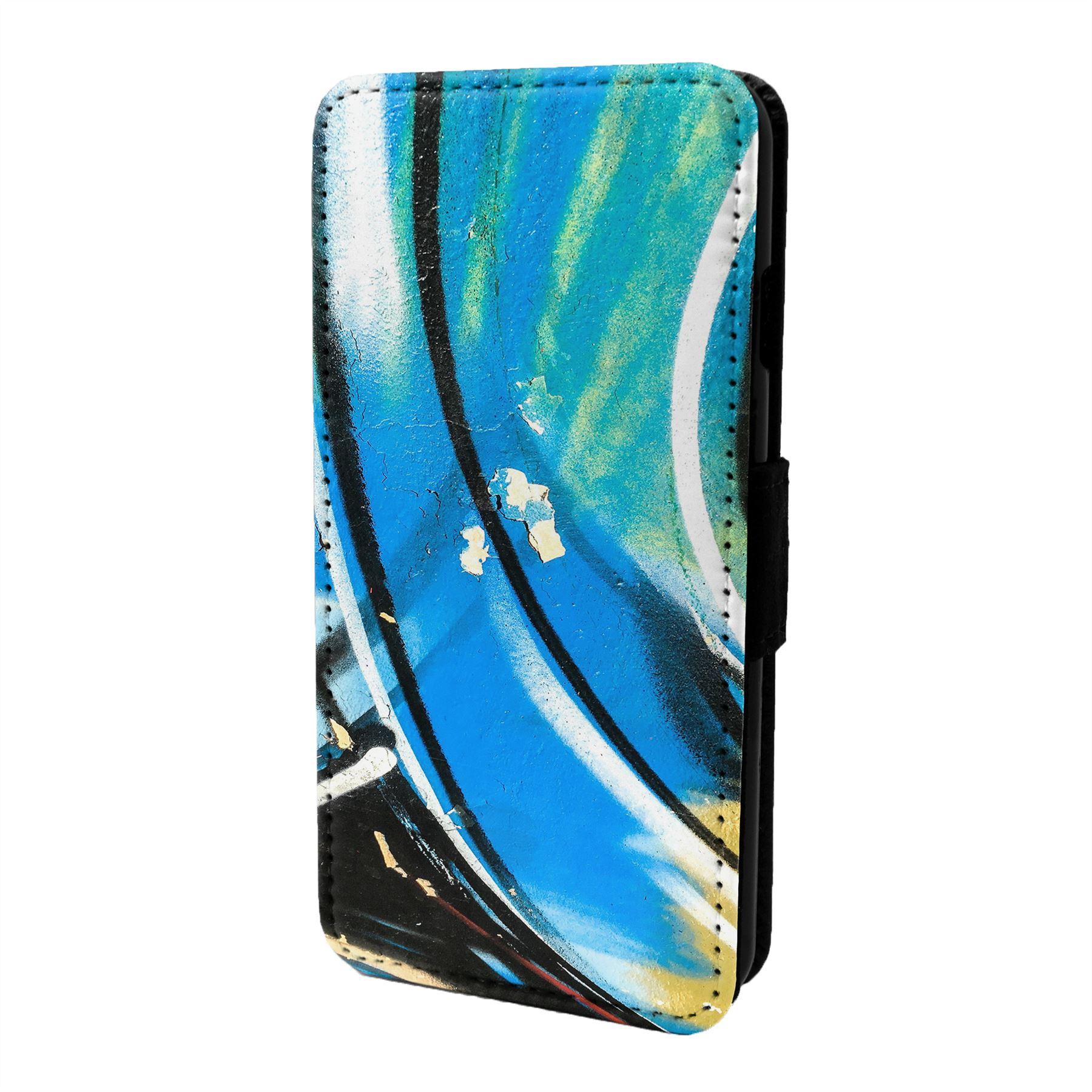 Graffiti-Art-Etui-Rabattable-pour-Telephone-Portable-S6779