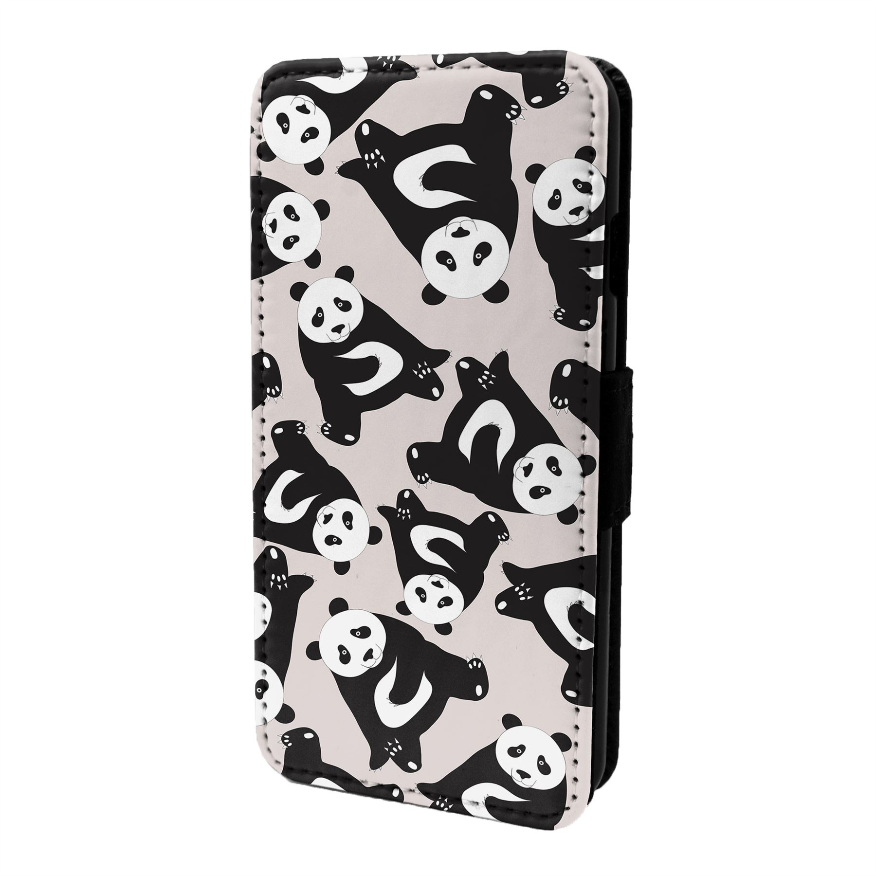 Oso-Panda-Estampado-Funda-Libro-para-Telefono-Movil-S6998