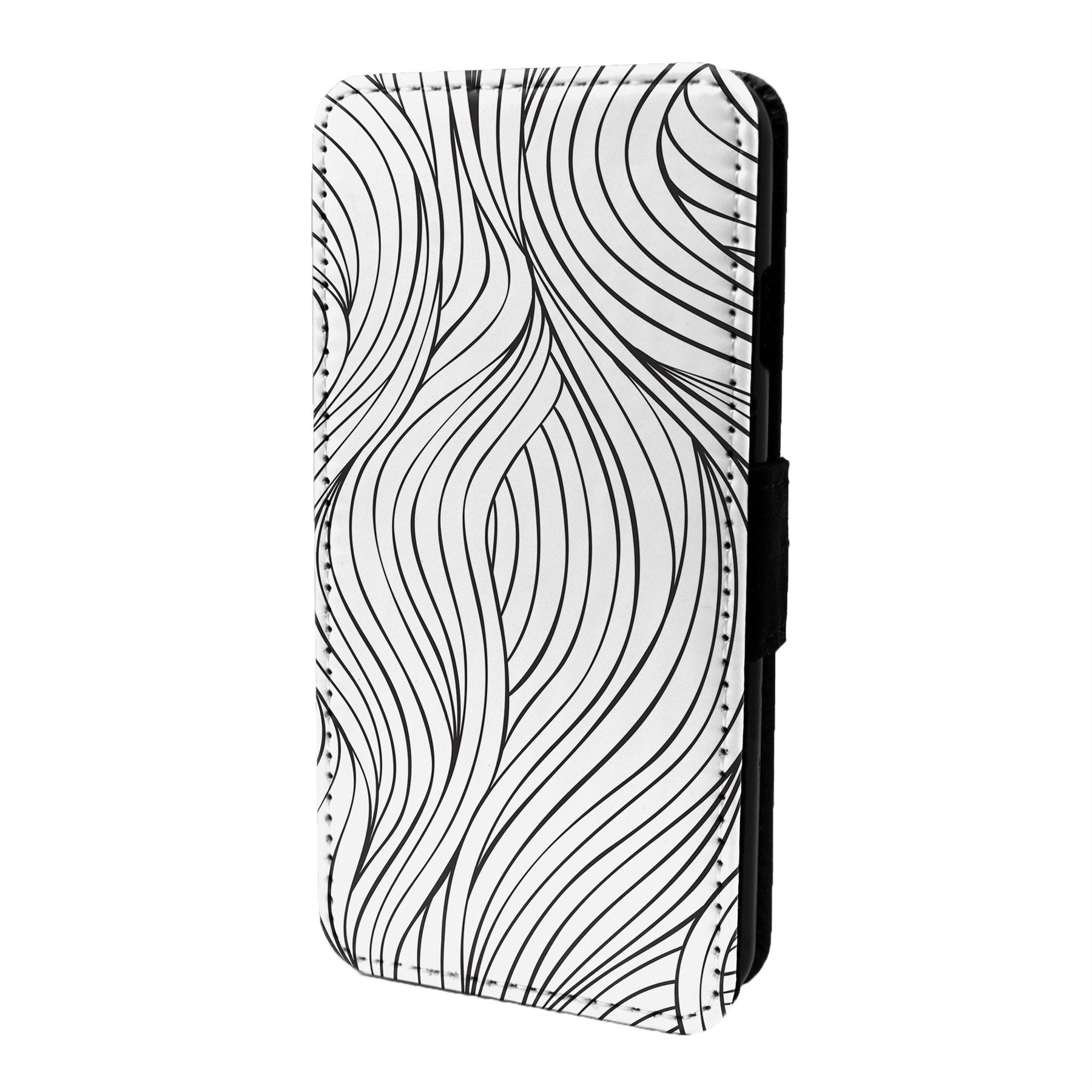 Abstracto-Minimal-Estampado-Funda-Libro-para-Telefono-Movil-S6576