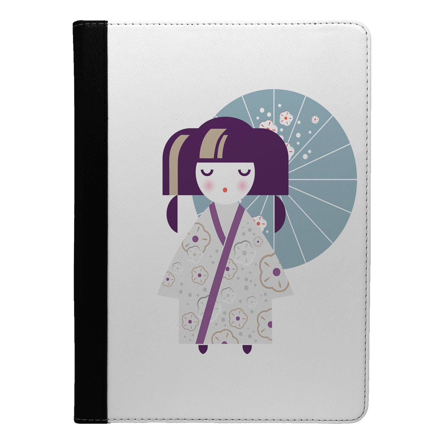 Japanese-Geisha-Girl-Print-Flip-Case-Cover-For-Apple-iPad-S8716