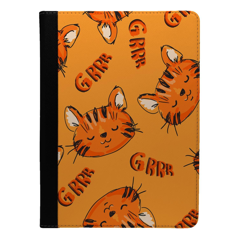 Lindo-Tigre-Patron-Funda-Libro-para-Apple-Ipad-S8853