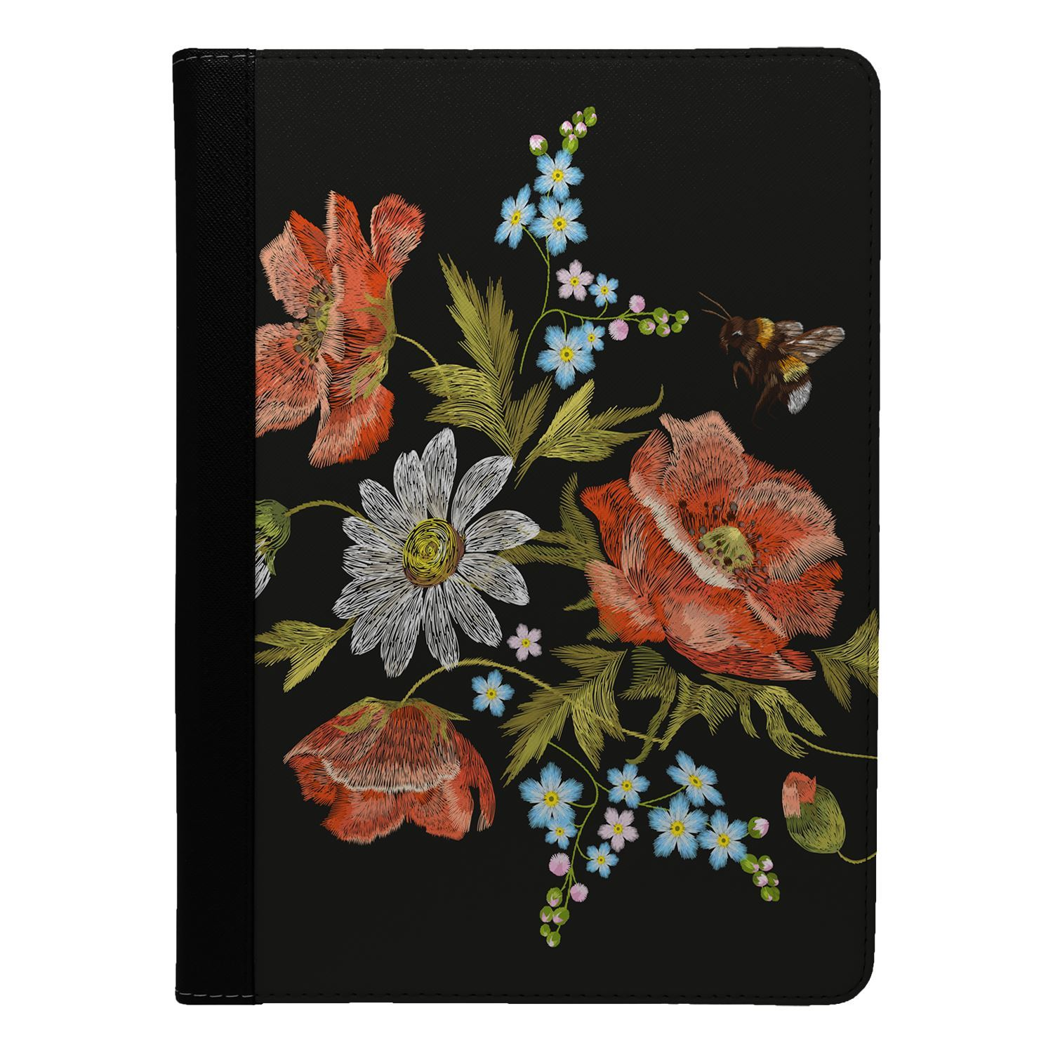 Embroidery-Effect-Flowers-Flip-Case-Cover-For-Apple-iPad-S4500