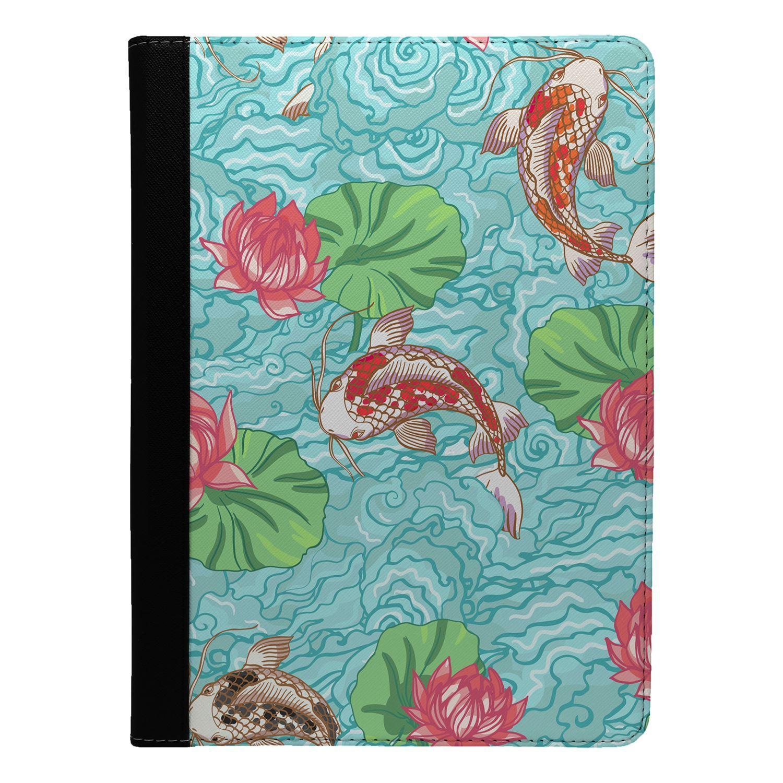 Koi-Car-Fish-Pattern-Flip-Case-Cover-For-Apple-iPad-S8348