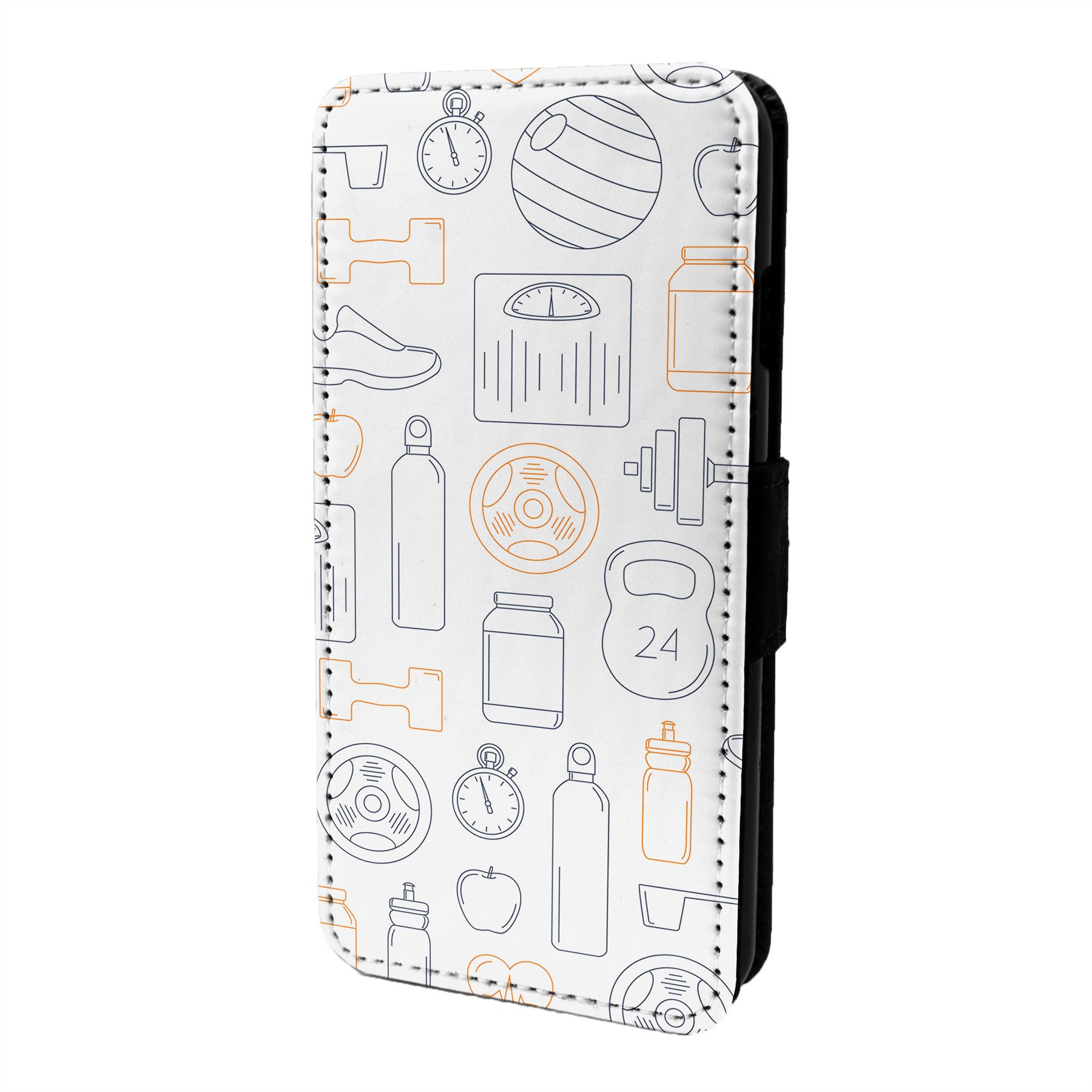 Fitness-Gym-Motif-Etui-Rabattable-pour-Telephone-Portable-S6694