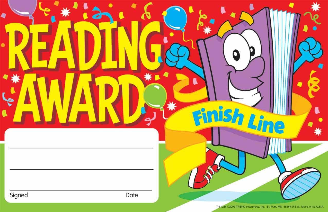 30 Kids Reading Reward Recognition Certificate Awards Finish Line