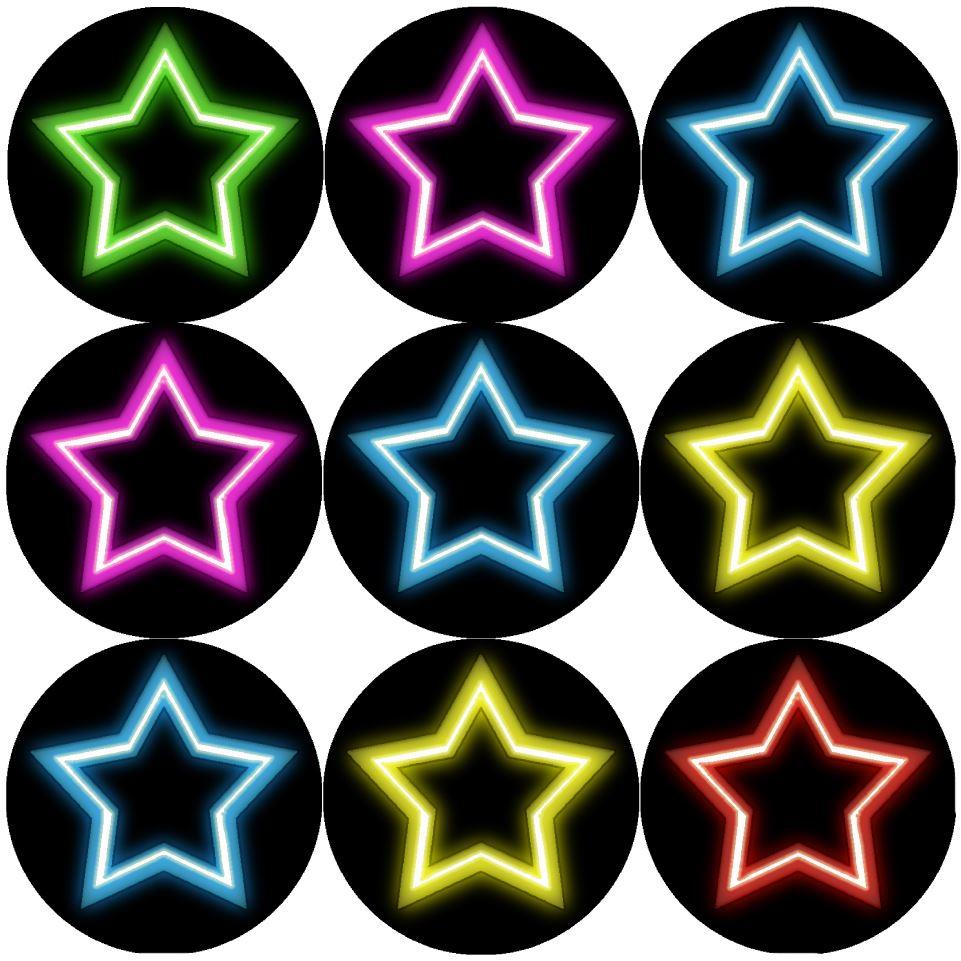180 Super Stars Sparkle School Teacher Reward Stickers Large 18mm Diameter