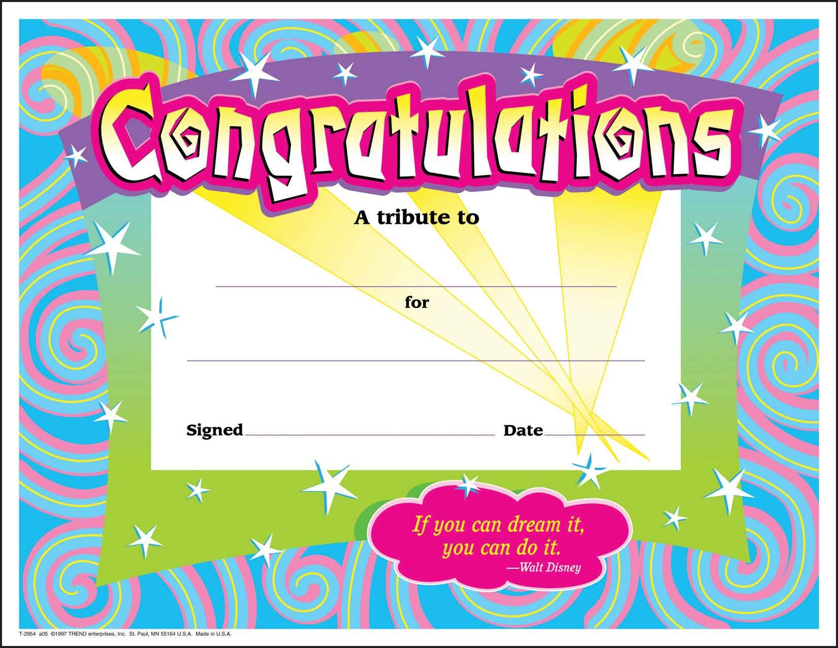 30 congratulations award large swirl certificate award