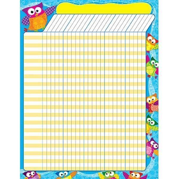 Owl Stars Large Vertical Incentive Wall Reward Chart Ebay