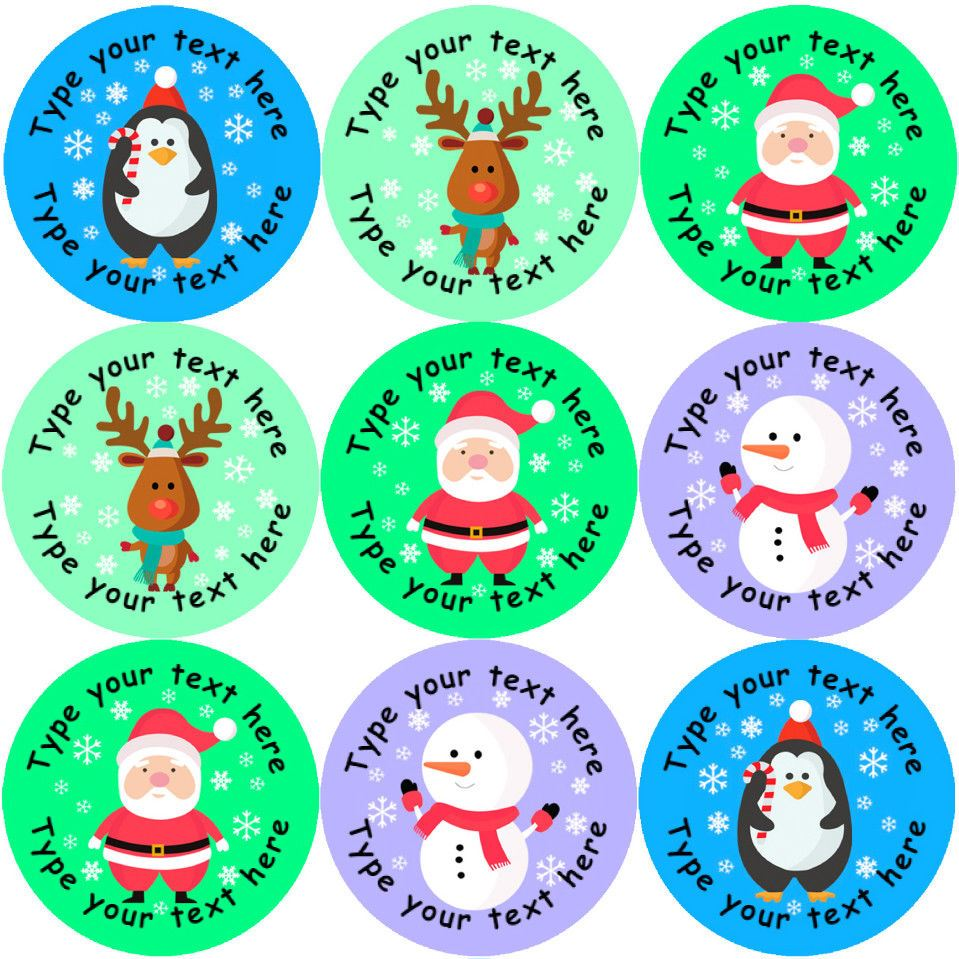 Details about 144 personalised christmas friends 30mm reward stickers ideal for school teacher