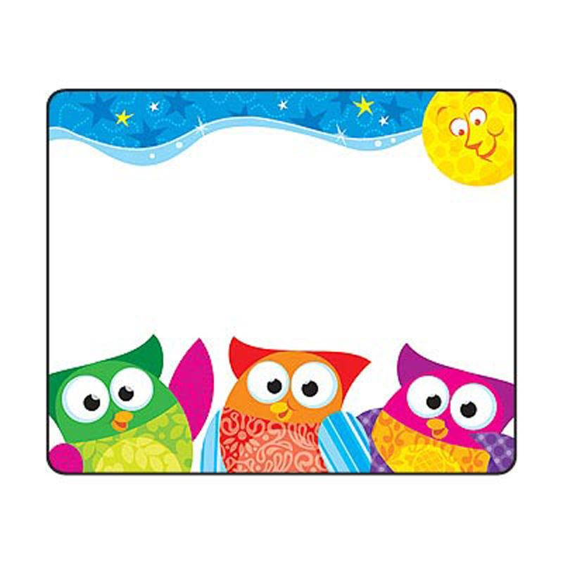 36 Owl-stars Owl Name Tag Stickers - School, Labels, Party ...