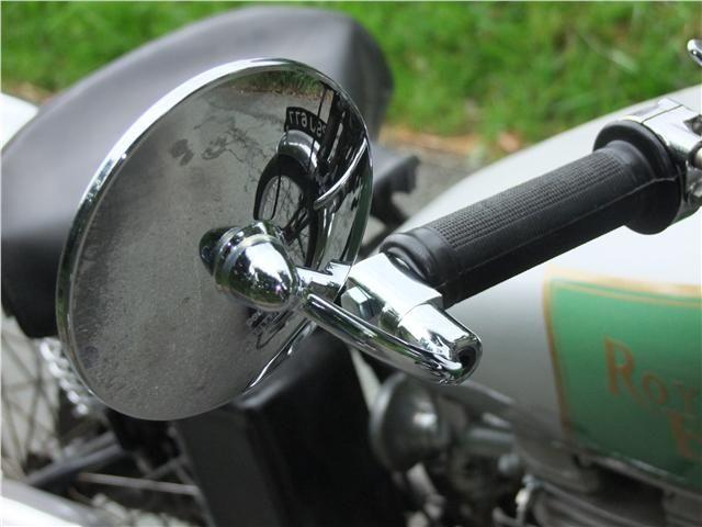Classic motorcycle handlebar end Mirrors pair