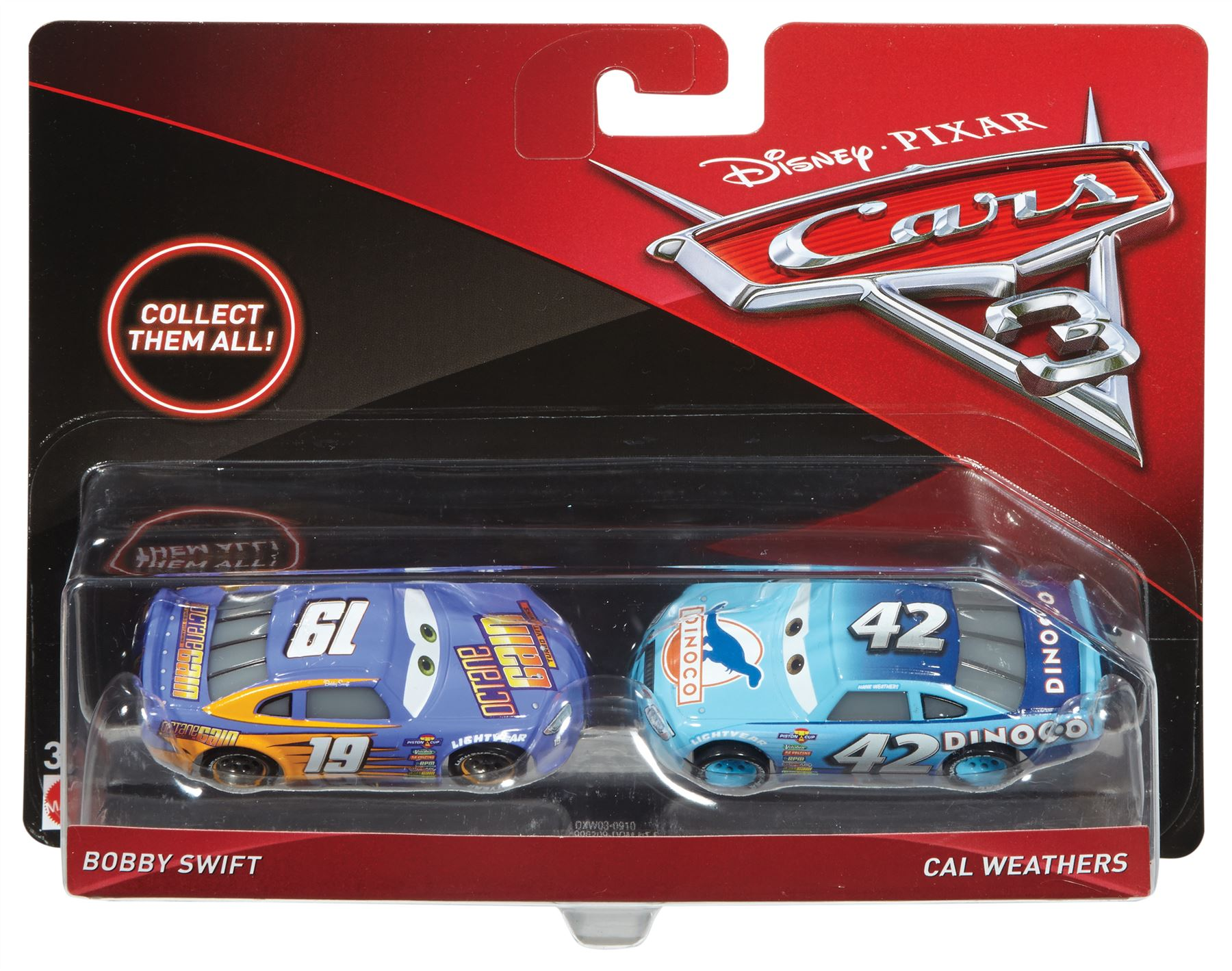 Disney Cars 3 Two Pack Sterling Bobby Minny Natalie