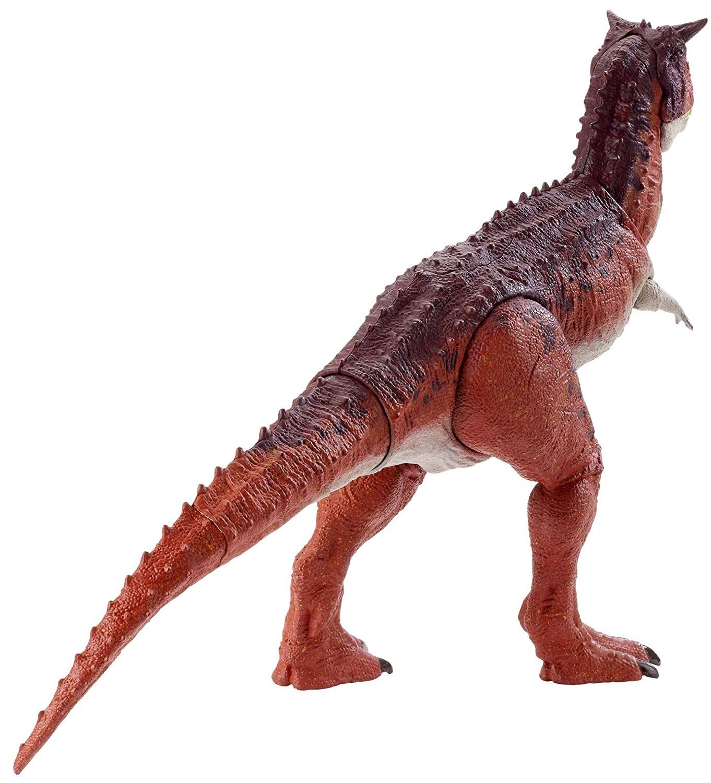 JURASSIC WORLD azione attacco CARNOTAURUS sastrei STEGOSAURO dinosauro Figure