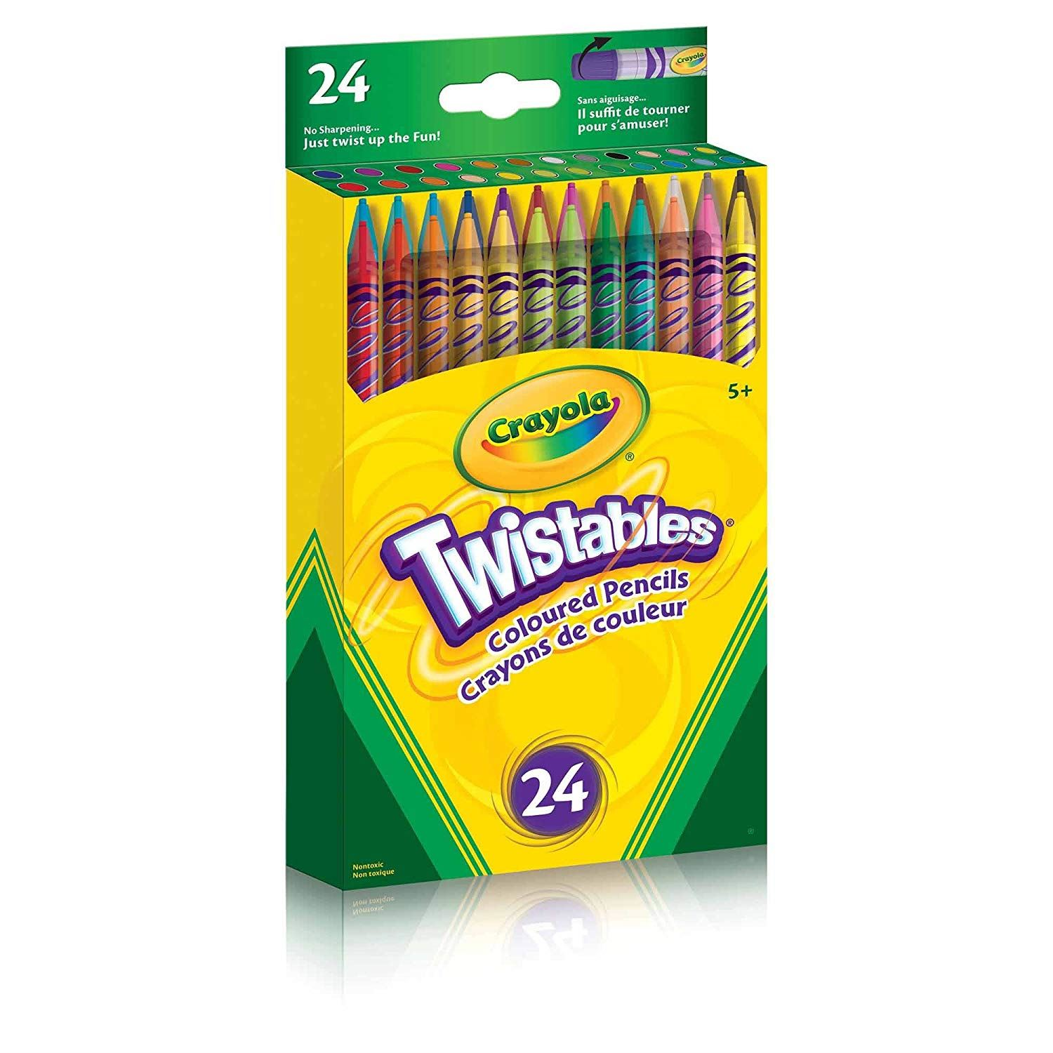 Crayola Twistables Coloured Drawing Arts /& Crafts Pencils 24 Pack