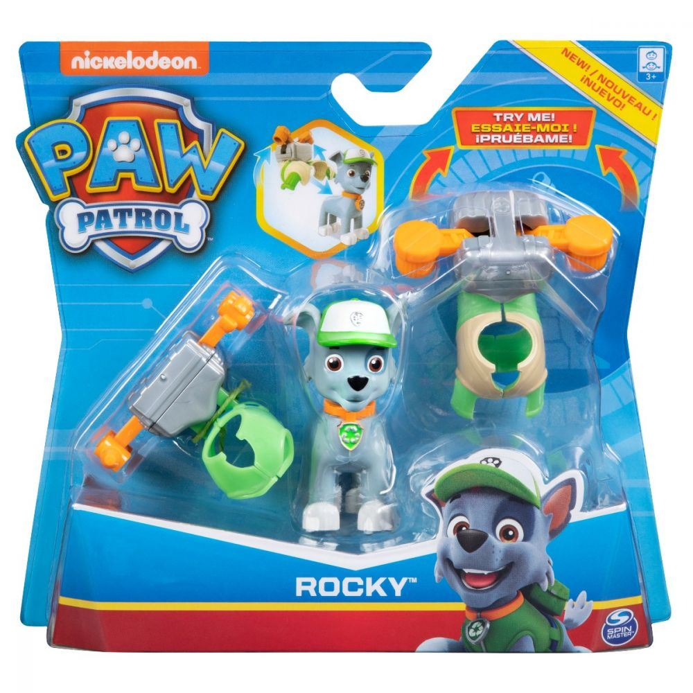 Chase Paw Patrol Pup Pack badge /& Marshall Zuma Rocky figures