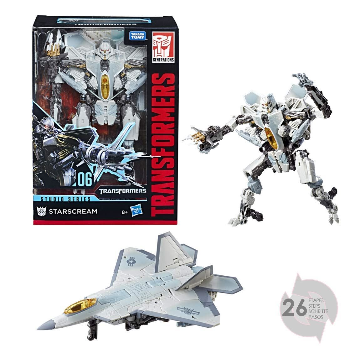 Transformers Voyager Starscream Aircraft Robot Action Figures Kids Toys Gifts