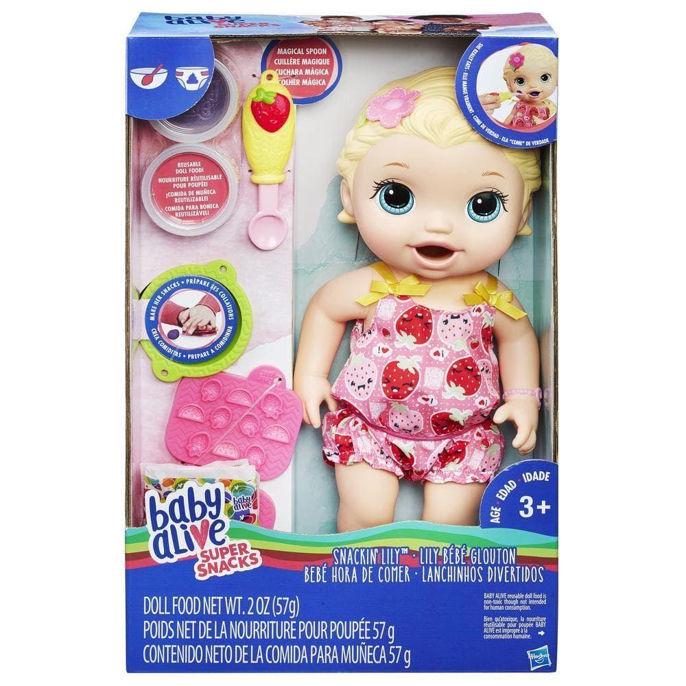 Baby Alive Super Snacks Snackin Lily Doll Ebay