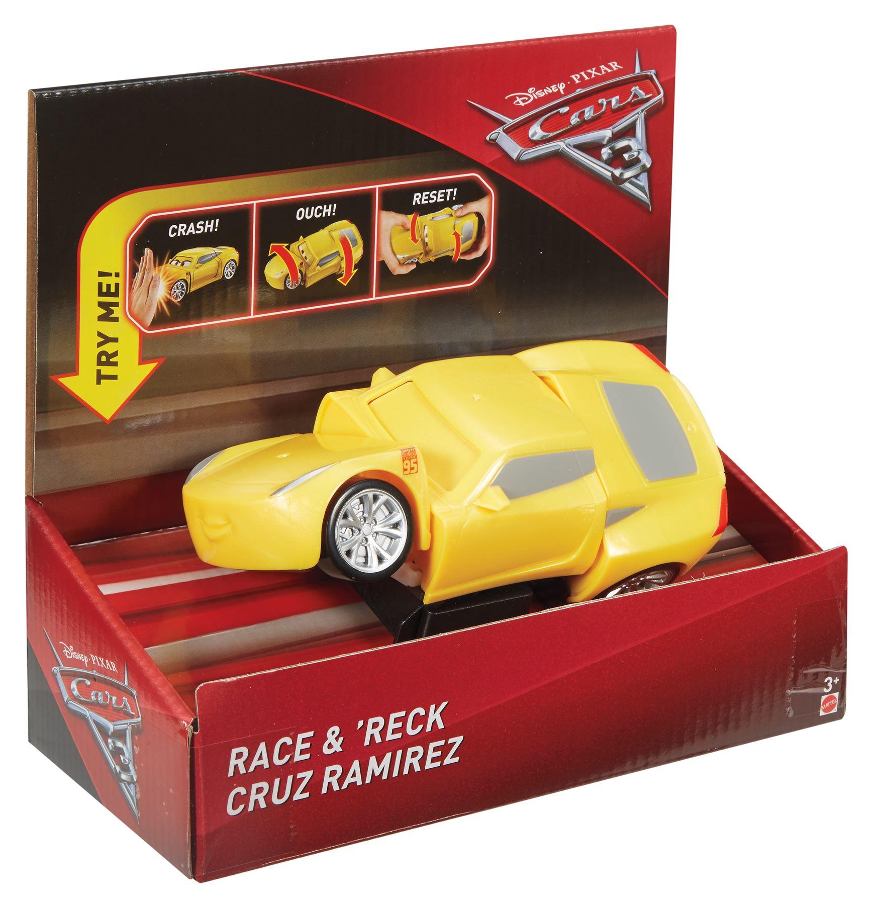 Disney Cars Race Reck Super Crash Lightning Mcqueen Cruz