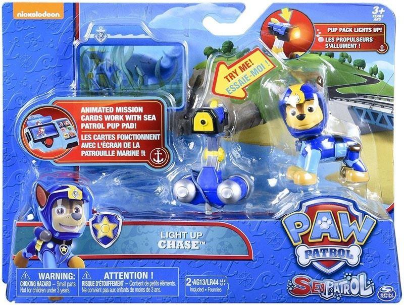 Details about Paw Patrol Sea Patrol Light Up Zuma Marshall Chase Skye  Rubble Rocky Figures