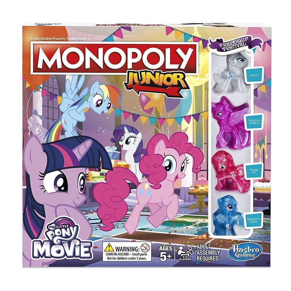 hasbro gaming monopoly junior my little pony board game  ebay