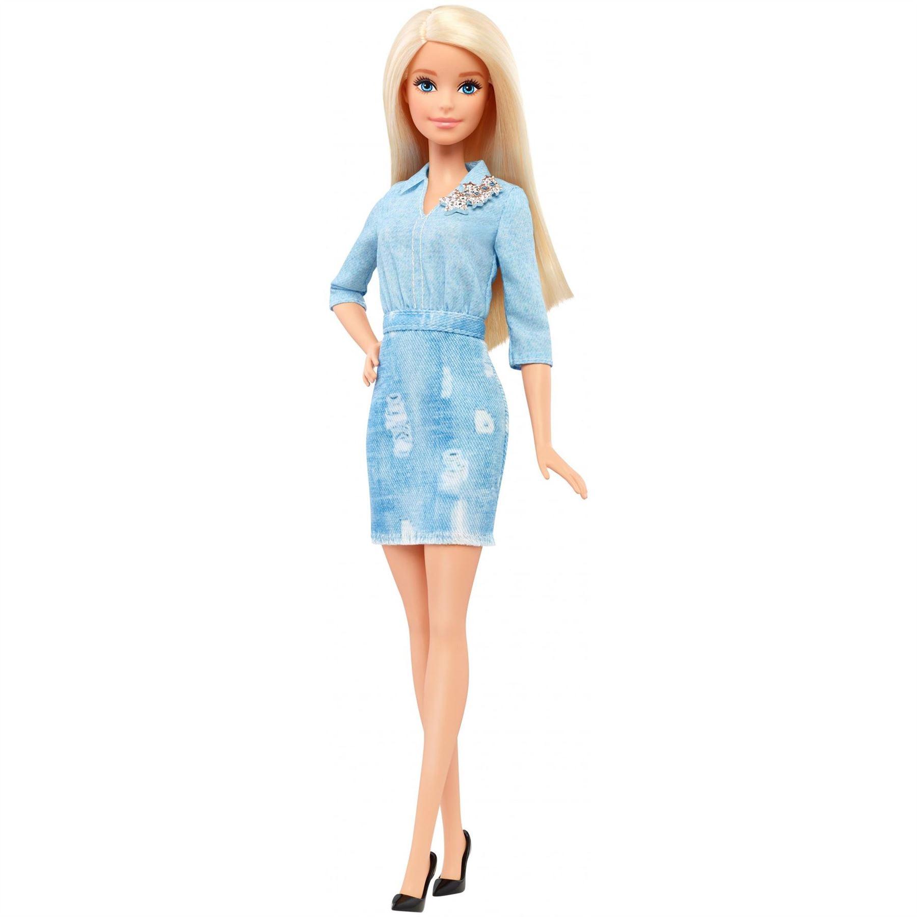 Barbie Fashionista Doll Daisy Denim Polka Dot Petite